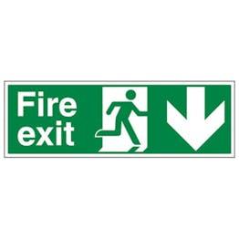Eco-Friendly Fire Exit Arrow Down