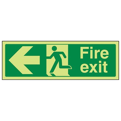 GITD Fire Exit Arrow Left