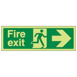 GITD Fire Exit Arrow Right