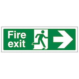 Fire Exit Arrow Right - Polycarbonate