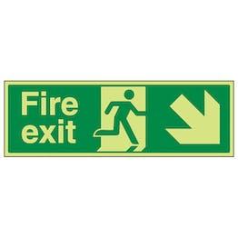 GITD Fire Exit Arrow Down Right