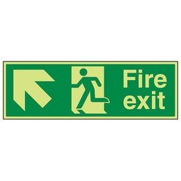 GITD Fire Exit Arrow Up Left