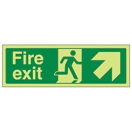GITD Fire Exit Arrow Up Right
