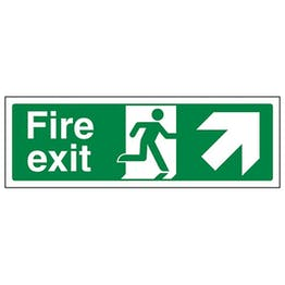 Eco-Friendly Fire Exit Arrow Up Right