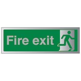 Final Fire Exit Man Right - Aluminium Effect