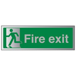 Final Fire Exit Man Left - Aluminium Effect