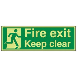 GITD Fire Exit Keep Clear With Man