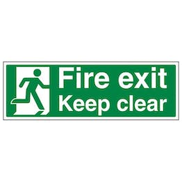 Eco-Friendly Fire Exit Keep Clear With Running Man