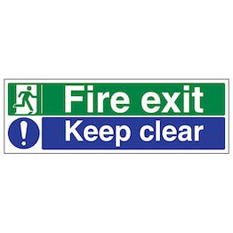 Fire Exit / Keep Clear