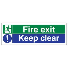 Fire Exit/Keep Clear - Polycarbonate
