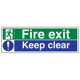 Eco-Friendly Fire Exit / Keep Clear