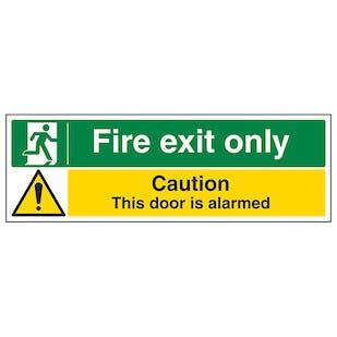 Fire Exit Only / Door Alarmed