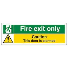Eco-Friendly Fire Exit Only / Door Alarmed