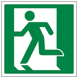 Eco-Friendly Running Man Left Symbol