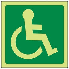 GITD Wheelchair Symbol Right
