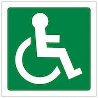 Wheel Chair Logo Facing Right