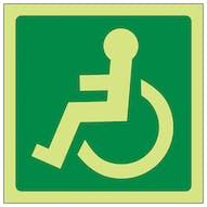 GITD Wheelchair Symbol Left