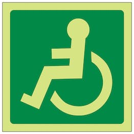 GITD Wheelchair Symbol Left