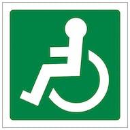 Wheel Chair Logo Facing Left