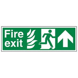 NHS Fire Exit Arrow Up