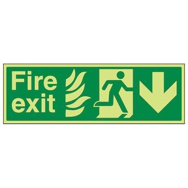 GITD NHS Fire Exit, Arrow Down
