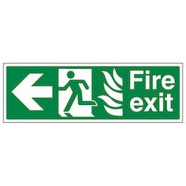 NHS Fire Exit Arrow Left