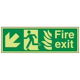 GITD NHS Fire Exit, Arrow Down Left