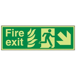 GITD NHS Fire Exit, Arrow Down Right
