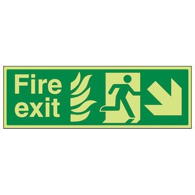 GITD NHS Fire Exit, Arrow Down Right