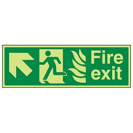 GITD NHS Fire Exit, Arrow Up Left