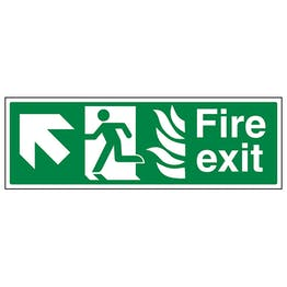 NHS Fire Exit Arrow Up Left