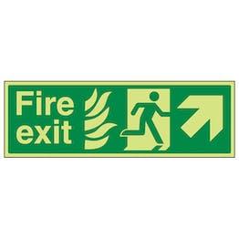 GITD NHS Fire Exit, Arrow Up Right