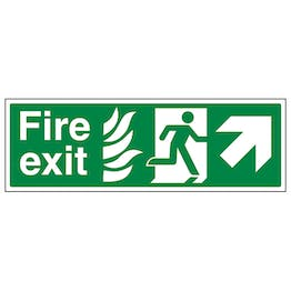 NHS Fire Exit Arrow Up Right