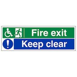 Wheel Chair Fire Exit / Keep Clear