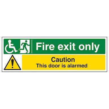 Wheel Chair Fire Exit Only / Door Alarmed