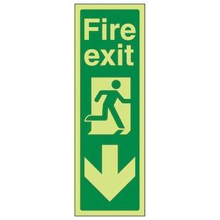 GITD Portrait Fire Exit Arrow Down