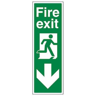 Portrait Fire Exit Arrow Down