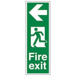 Eco-Friendly Portrait Fire Exit Arrow Left
