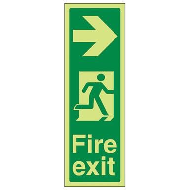 GITD Portrait Fire Exit Arrow Right