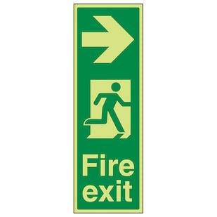 GITD Portrait Fire Exit Arrow Right