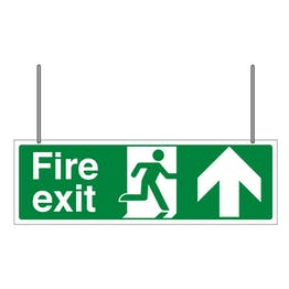 Double Sided Fire Exit Arrow Up