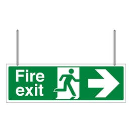 Double Sided Fire Exit Arrow Left/Right