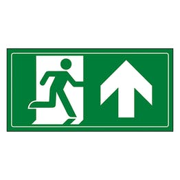 Fire Exit Man Running Up