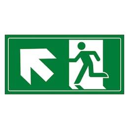 Fire Exit Man Running Up Left