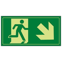 GITD Fire Exit Man Running Down Right