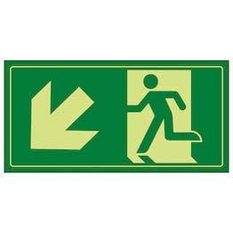GITD Fire Exit Man Running Down Left