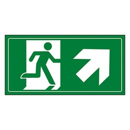 Fire Exit Man Running Up Right