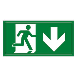 Fire Exit Man Running Down