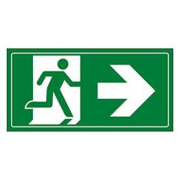 Fire Exit Man Running Right
