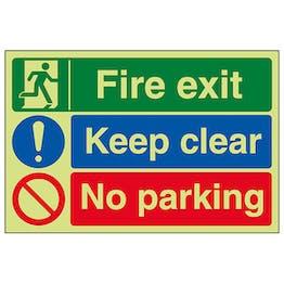 GITD Fire Exit / Keep Clear / No Parking